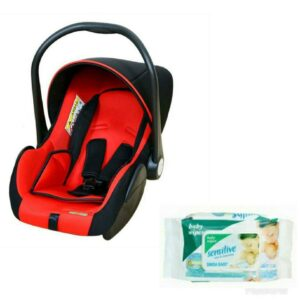 Harry & Honey Baby Carry Cot Cum Car Seat Lb321 Red With Wipes