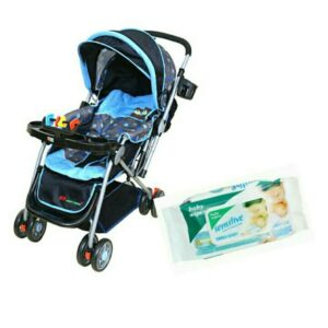 Harry & Honey Baby Stroller Hh8806 A Blue With Wipes