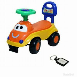 Harry & Honey Baby Toy Car HH 5851 Orange With Key Chain