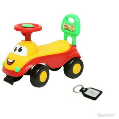 Harry & Honey Baby Toy Car HH 5851 Yellow With Key Chain