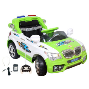 Wheel Power Battery Operated Ride On Car 20x8 Green-White