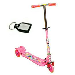 Wheel Power Wide Foot Board Baby Scooter Pink Key Chain