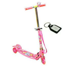 Wheel Power Front Suspension Baby Scooter Pink With Key Chain