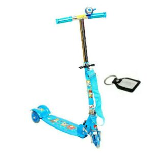 Wheel Power Three Wheeler Scooter Blue Key Chain