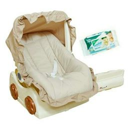 Harry & Honey 2 In 1 Baby Carry Cot Cum Rocker Beige With Wipes
