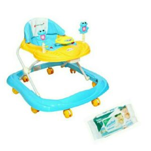 Harry & Honey Baby Musical Walker Blue With Wipes