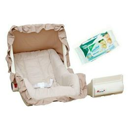 Harry & Honey Baby Carry Cot Cum Rocker Beige With Wipes