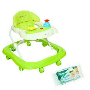 Harry & Honey Baby First Step Musical Walker Green With Wipes