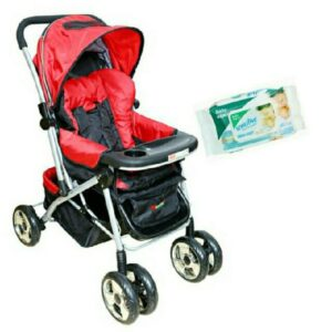 Harry & Honey Baby Stroller 8585 Red With Wipes