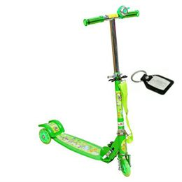 Wheel Power Front Suspension Baby Scooter Green Key Chain