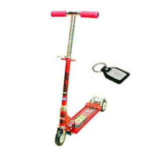 Wheel Power Three Wheeler Scooter Red Key Chain