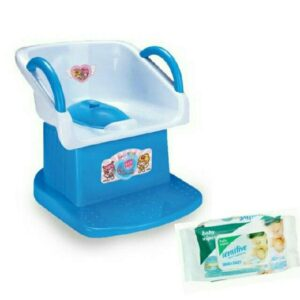 Harry & Honey Baby Potty Seat With Handles - Blue With Wipes