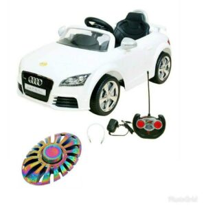 Wheel Power Baby Battery Operated Ride On Car Audi 676 Ar White With Fidget