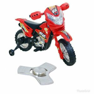 Wheel Power Baby Battery Operated Ride On Power Ranger Bike Zp3999a Red With Fidget