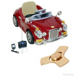 Wheel Power Vintage Toy Car 1828 Maroon With Fidget
