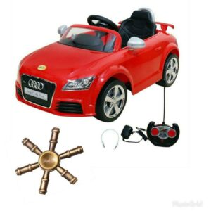 Wheel Power Baby Battery Operated Ride On Car Audi 676 Ar Red With Fidget