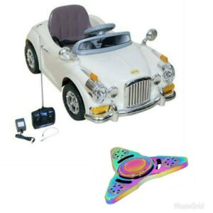 Wheel Power Vintage Toy Car 1828 Off White With Fidget