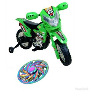 Wheel Power Baby Battery Operated Ride On Power Ranger Bike Zp3999a Green With Fidget