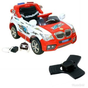 Wheel Power Battery Operated Ride On Car 20x8 Red-White With Fidget