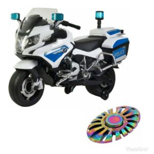 Wheel Power Baby Battery Operated BMW Police Bike White With Fidget