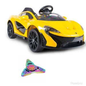 Wheel Power Mclaren Battery Operated Ride On Car Yellow With Fidget