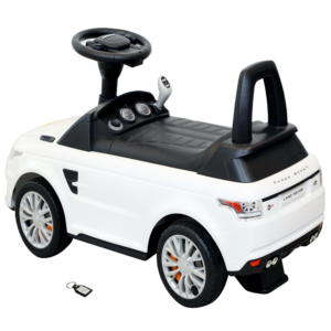 Wheel Power Range Rover 2 In 1 Battery Operated Cum Foot To Floor Ride On Car White With Fidget